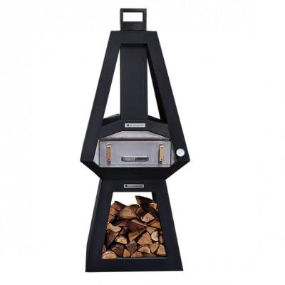 Печь для пиццы на дровах Quan, черный