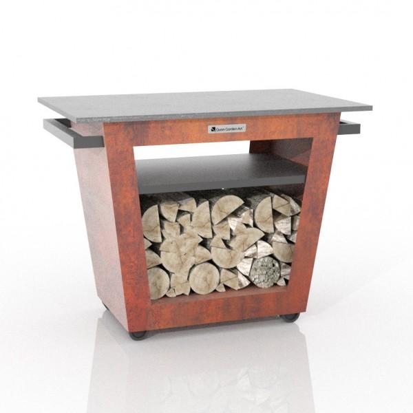Купить Стол со столешницей из гранита Quan Large, ржавый - QN91182 в магазине Grill Point