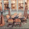 Комплект стол с грилем Quan, на 6 персон, коричневый - QN93063 фото_5