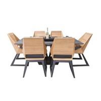 Комплект стол с грилем Quan, на 6 персон, черный