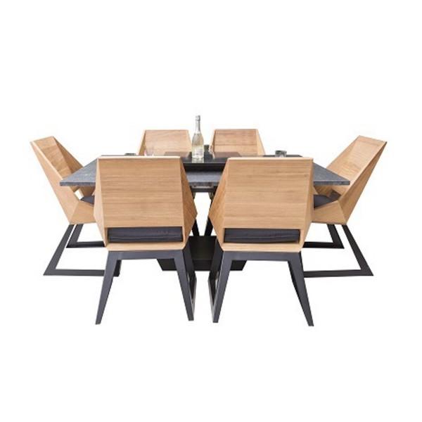 Купить Комплект стол с грилем Quan, на 6 персон, черный - QN93070 в магазине Grill Point