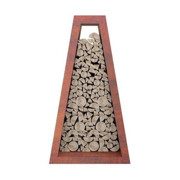Купить Стелаж для хранения дров Quan Premium, ржавый - QN93124 в магазине Grill Point