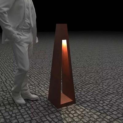 Светильник с внутренним освещением Quan, коричневый, 110 см