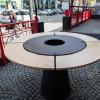 Съемный круглый стол для барбекю мангала UNO+. - UNO_TABLE фото_5