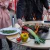 Съемный круглый стол для барбекю мангала UNO+. - UNO_TABLE фото_1